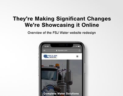 FSJ Water Website Redesign