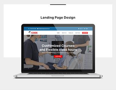 Website layout Design   Code Dental Academy