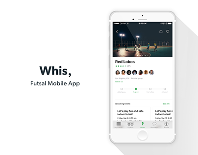 iPhone Sport Mobile App: Whis