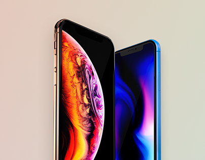 Free iPhone XS/XS Max/XR mockups PSD Sketch Vector