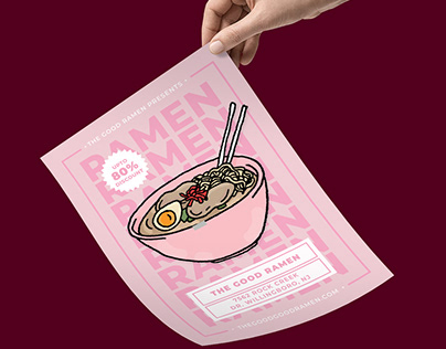 Ramen Food Flyer