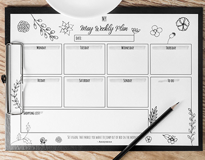 FREE CONTENT - May Weekly Planner