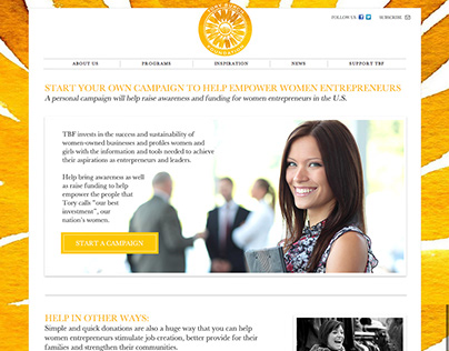 Tory Burch Fundraising Site