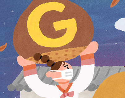 Google doodle illustration