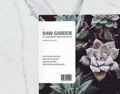 Raw Garden Magazine Design