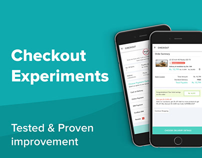 Ecommerce Checkout experiements UI/UX