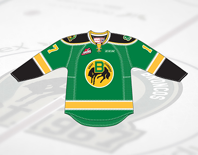 Swift Current Broncos 50th Anniversary 3rd Jersey