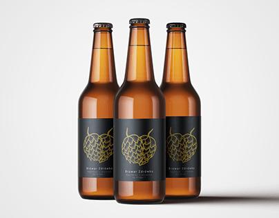 "Graphic Identification & Beer Label - ""Zdrówko"" Brewary"