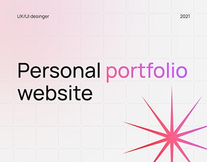 Personal portfolio website of a UI/UX designer