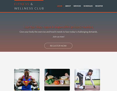 A Personal Project for Fitness Website