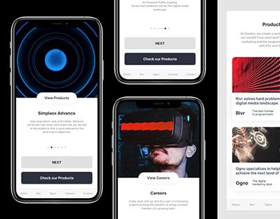 UI/UX web & mobile design for Berlin based tech agency