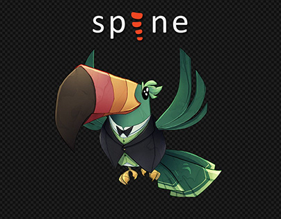 Toucan idle/attack (Spine 2D)