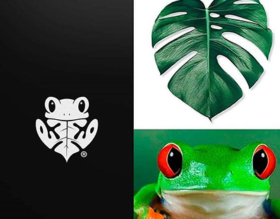 Frog and Feather Logo Design