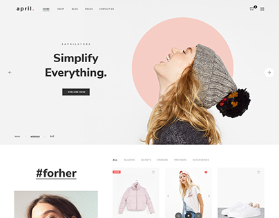 April - Ecommerce PSD Template