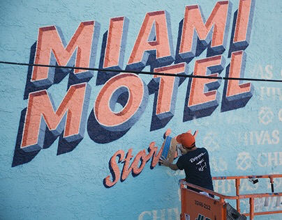 Miami Motel Stories Mural