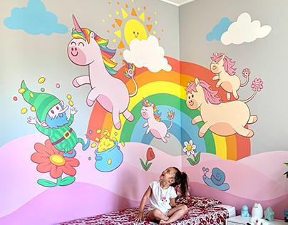 Land of the Unicorns   Mural