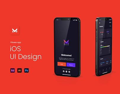 FitnessApp UI Design (iOS)