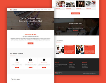 TemplateToaster Website Builder | Solicitor Law Theme