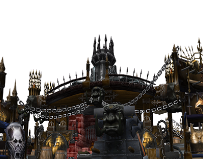 Recreation of the castle vania background