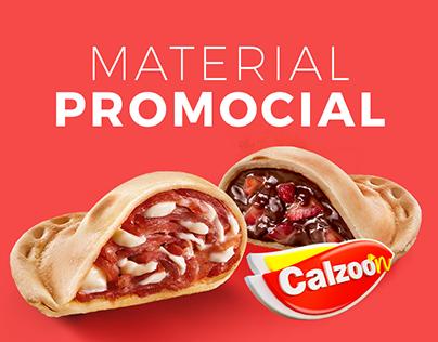 Material Promocional - Calzoon Mini Calzone