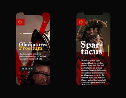 Coliseum Website Concept
