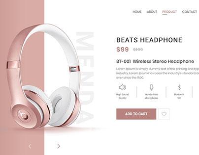 Menda Shot - eCommerce Design