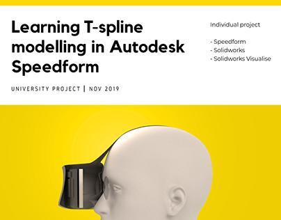 Learning T-spline modelling in Autodesk Speedform