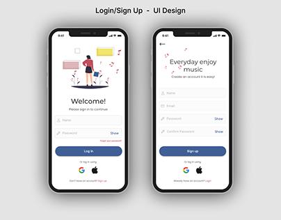 Login/Sign Up - Ul Design