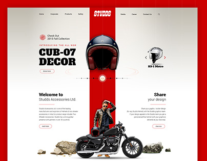 Studds Website Layout, UI/UX
