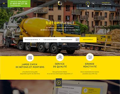 # BETON DIRECT - DA Création du dispositif web global