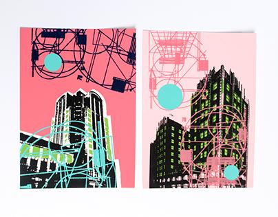 Skylines Adrift— Silkscreen Printing