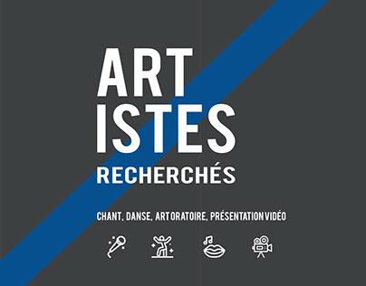 Vitrine promotionnelle | Artistes recherchés