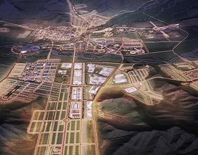 General plan of popular city