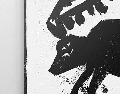 """Eko poster """"Curiouser"""""""