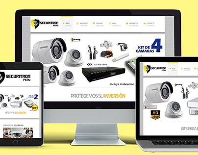 Diseño Página Web SECURITRON PERU