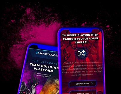 Landing page for Esport teambuilding project