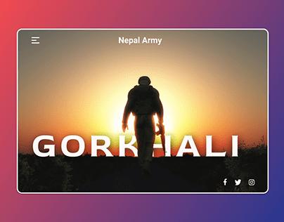 Nepal Army UI