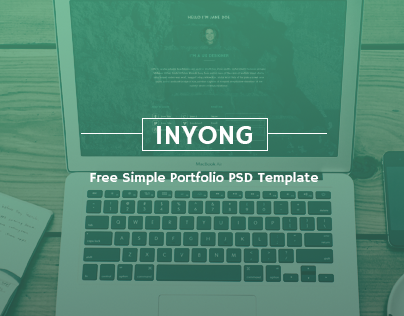inyong - Free Simple Portfolio PSD Template