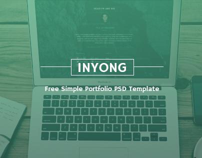 inyong - Free Simple Portfolio PSD Template