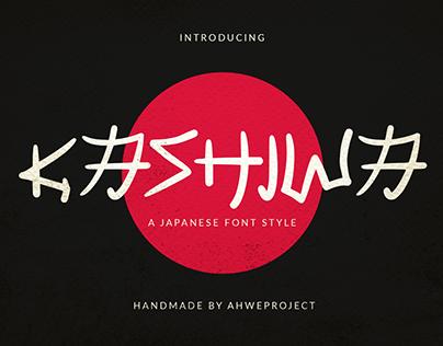 Kashiwa - A Japanese Font Style