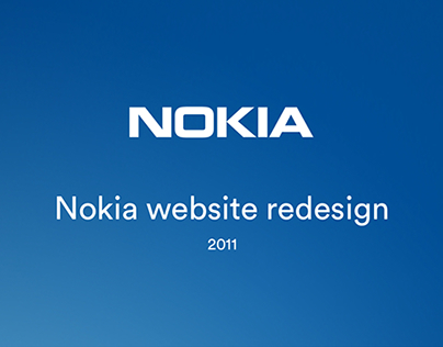Nokia Website Redesign
