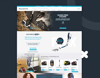 Rowenta e-Ticaret Site Tasarımı