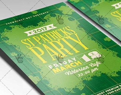 St. Patrick's Day Party – Premium Flyer PSD Template