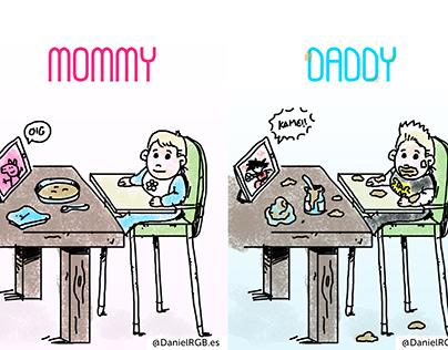 Mommy VS Daddy