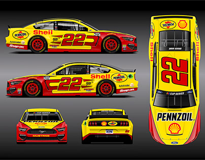 22 Pennzoil/Shell 2020 Ford Mustang Cup Car by RPM-3D