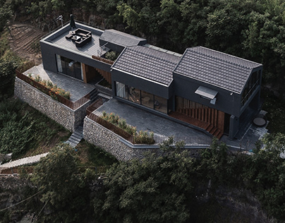 A residence on the hillside: Donghulin Guest House