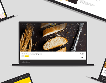 Ecommerce experience for handcrafted bakery products