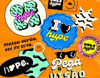 Orla Hype   Identidade Visual