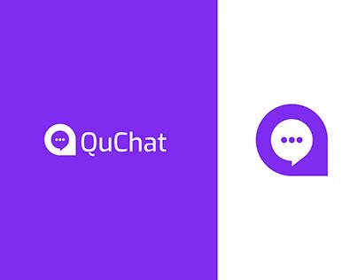 QuChat Logo Design - Letter Q + Chat icon
