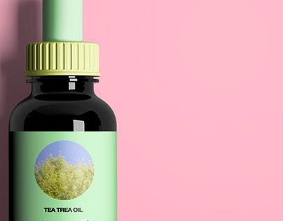 Tea Tree Oil Dropper Bottle Design